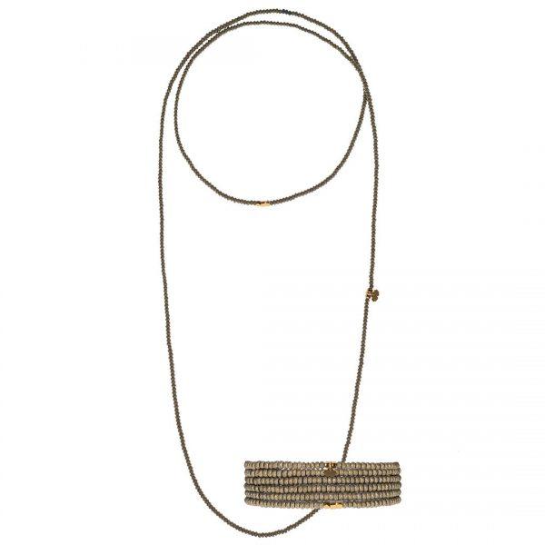 Handgemaakte Hematite facet geslepen ketting / armband