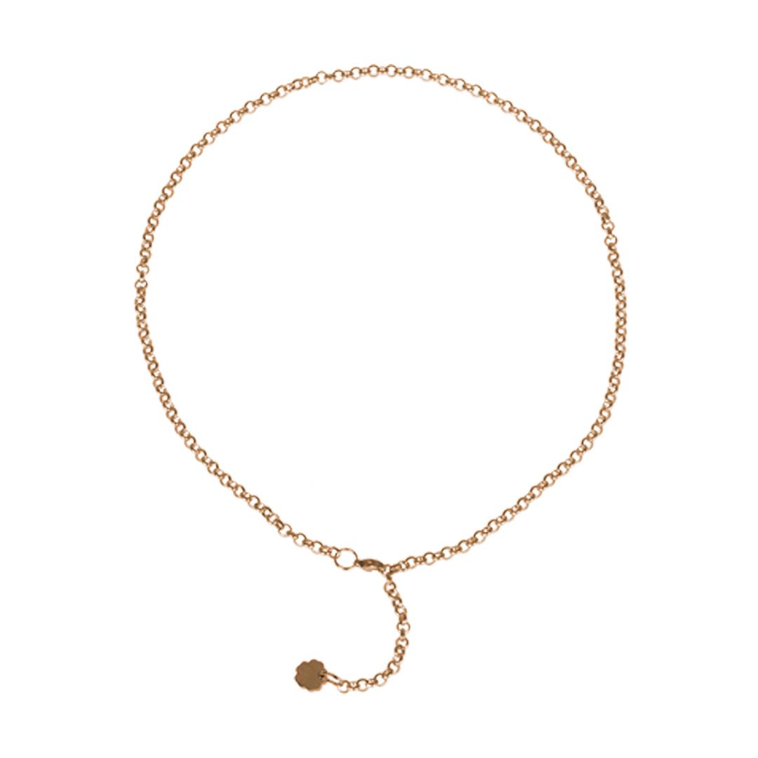Jasseron goud edelstaal kort fijn 43 cm