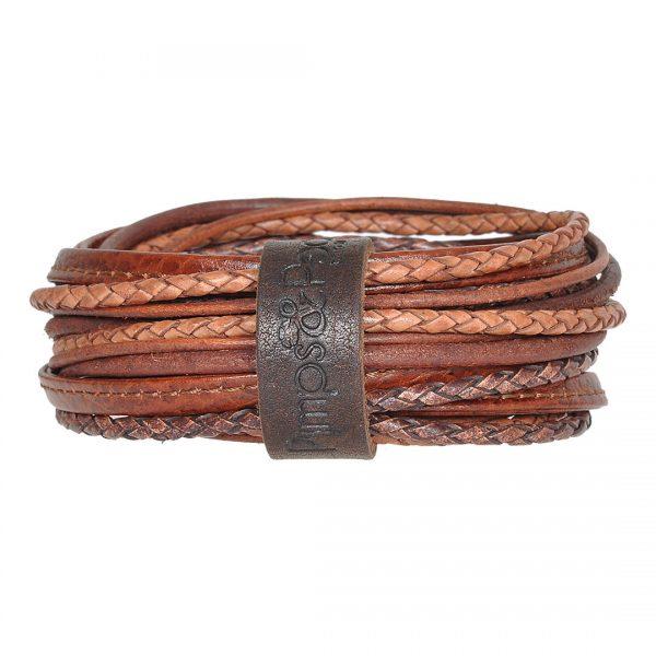 Handgemaakte lederen armband ketting van PimpsandPearls