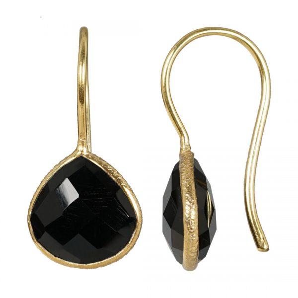 earring Black Agate Riva drops