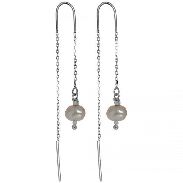 Earring oorbel parel sieraad zilver