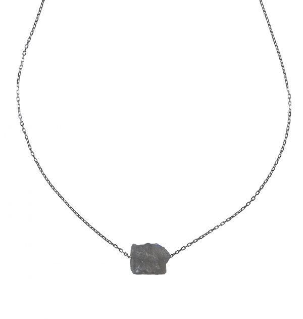zilver ketting labradorite PimpsandPearls
