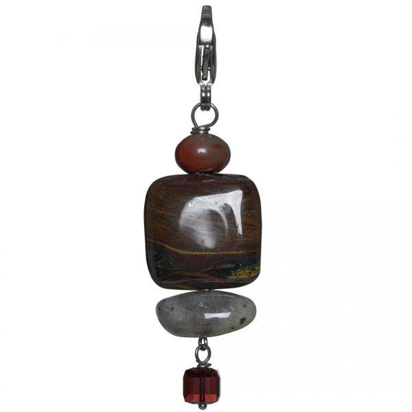Mooi handgemaakt Iron Jaspis edelsteen hanger van PimpsandPearls