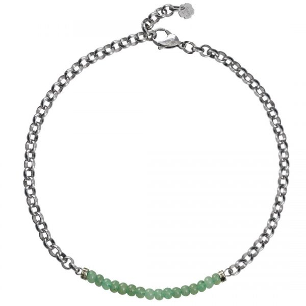 Ketting necklace gemstone choker Aventurijn
