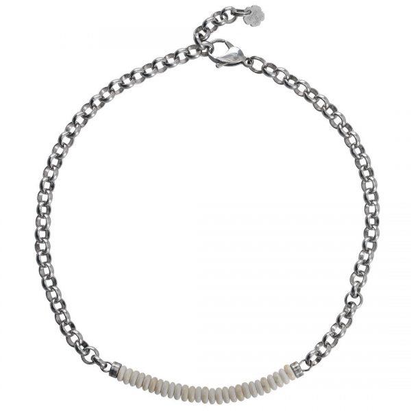 Ketting necklace gemstone choker Riverstone