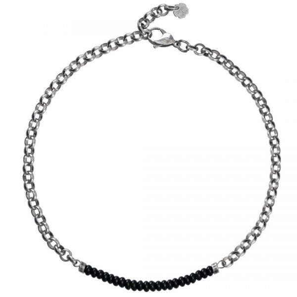 Ketting necklace gemstone choker Onyx