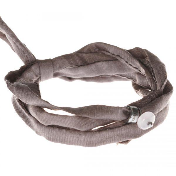 Silk Bracelet met Rose Quartz edelsteen bedel van PimpsandPearls