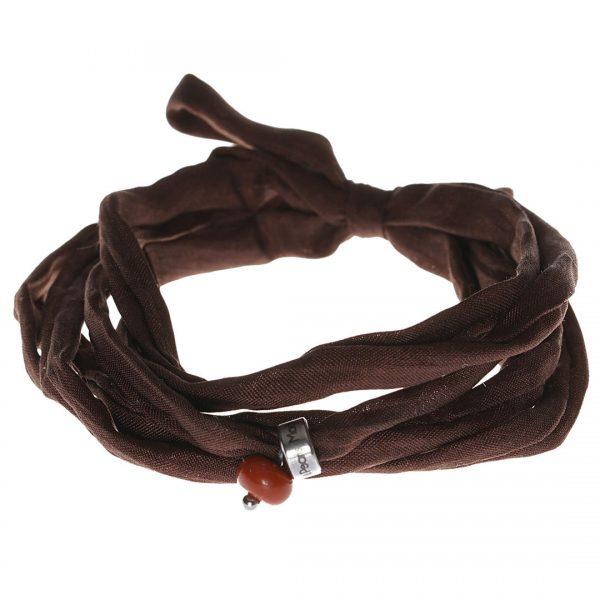 Silk Bracelet met Aventurine edelsteen bedel van PimpsandPearls