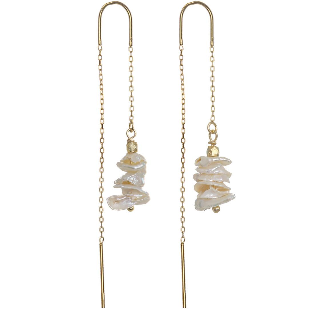 Ear Fashion 11 Pearl Tree Gold