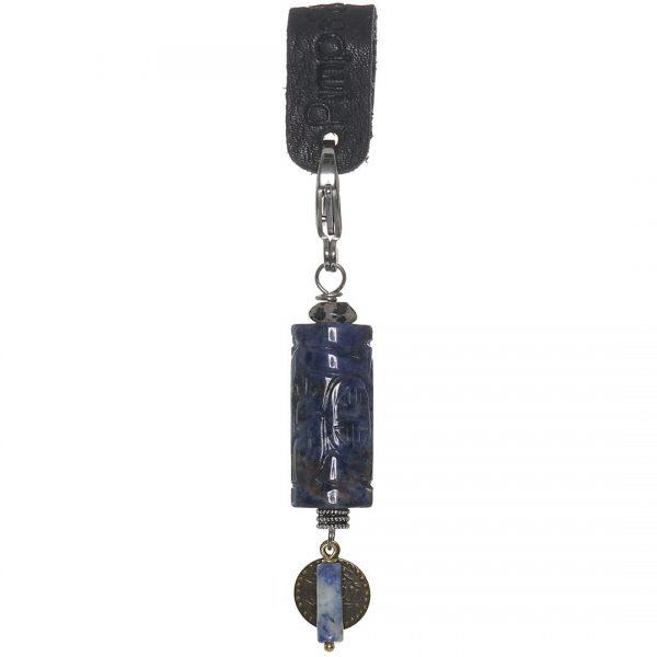 Handgemaakte Saya Mala Charm Specials Power Obsidian Green edelsteen bedel