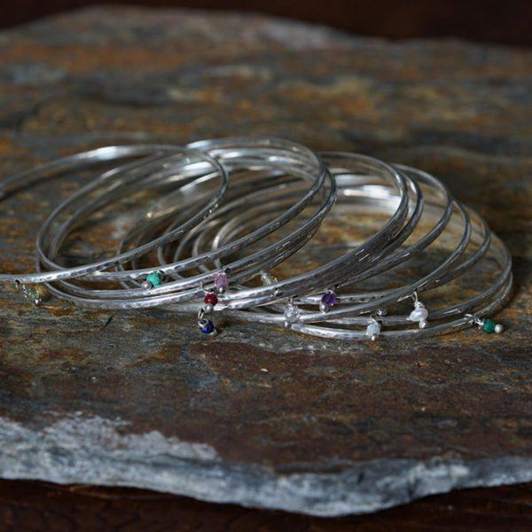Silver Bracelets Birthstone