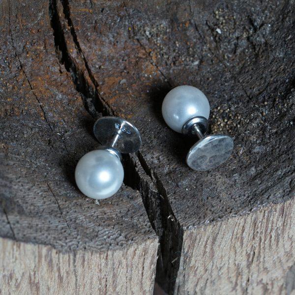 Luna Oorbel Silver Pearls Dot PimpsandPearls
