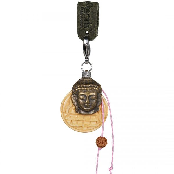 Handgemaakte Saya Mala Charm Buddha and Wood