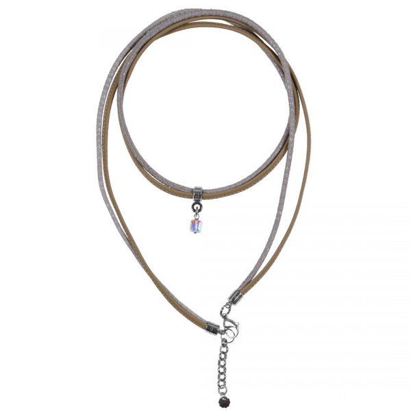 Leder ketting armband Gemstone edelsteen