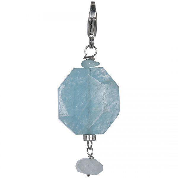 Sukha Rock Aquamarine Charm PimpsandPearls