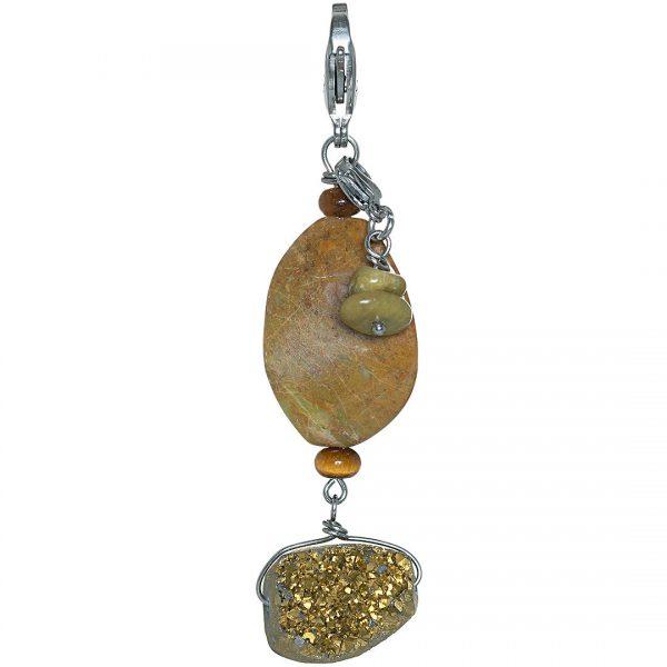 Handgemaakte edelsteen bedel Africa Opal