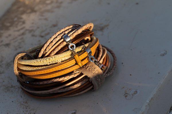 bracelets PimpsandPearls leather gemstones