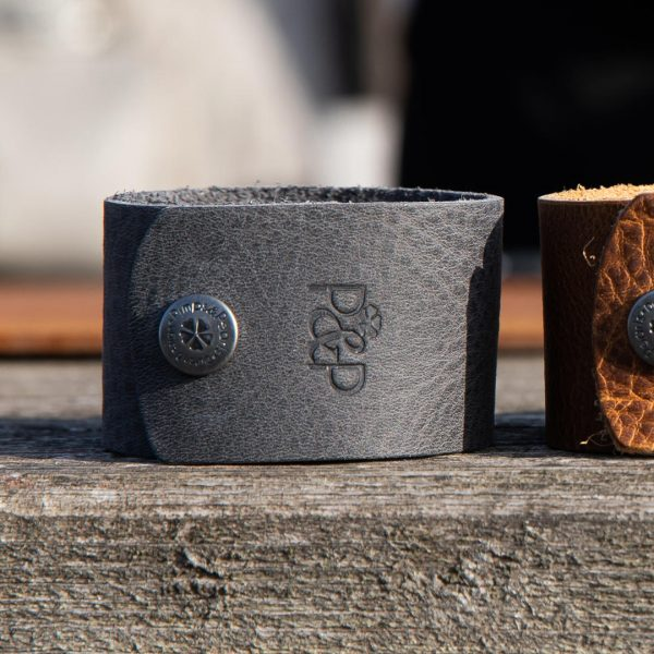 Handgemaakte lederen Cuff armband