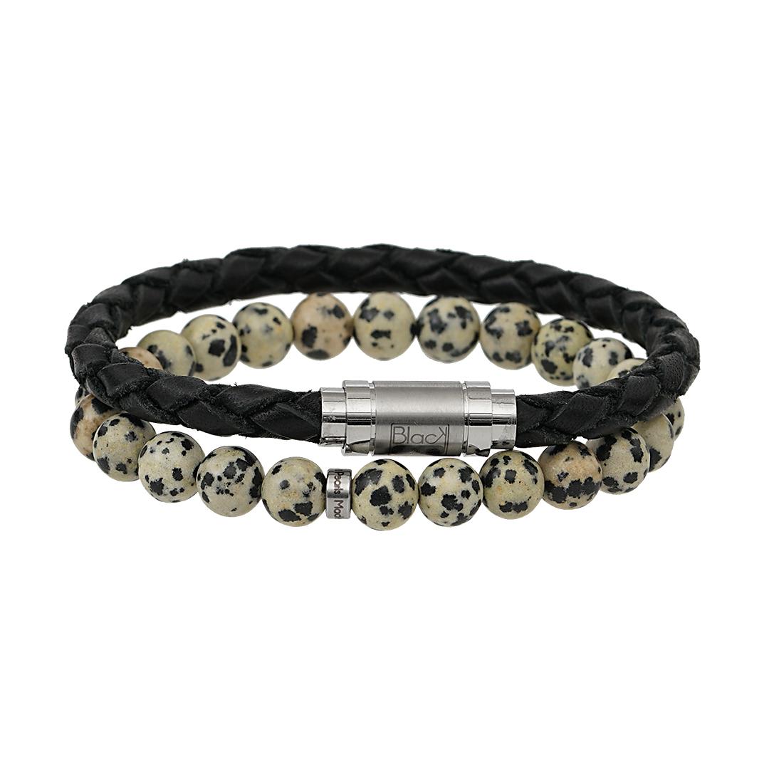 Edelsteen armband voor mannen. Mix & match eens met een van de andere heren armbanden. Bijvoorbeeld de nieuwste Stay Strong Hero lederen gevlochten armband. Verkrijgbaar in diverse edelsteen soorten.