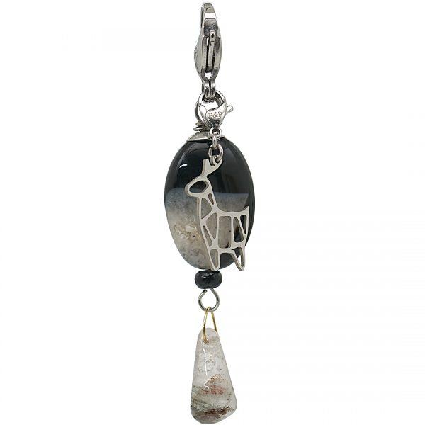 Handgemaakte edelsteen bedel hanger Geoden Agate
