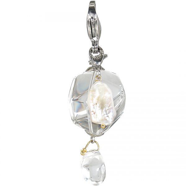 Handgemaakte edelsteen bedel hanger Clear Cristal