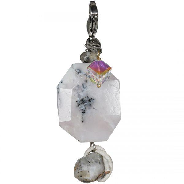 Handgemaakte edelsteen bedel hanger Dendrite Opal