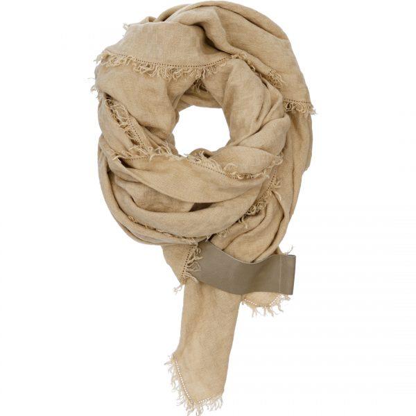 Linnen sjaal met Leather lus om je sjaal te stylen by PimpsandPearls