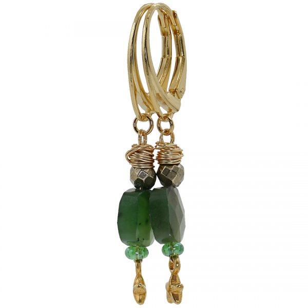 Ear Fashion Green Garnet Gold PimpsandPearls