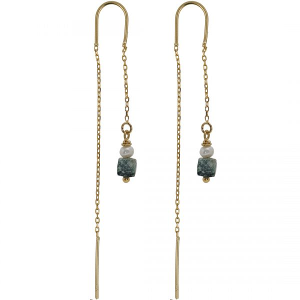 Ear Fashion Turquoise Pearl Gold PimpsandPearls