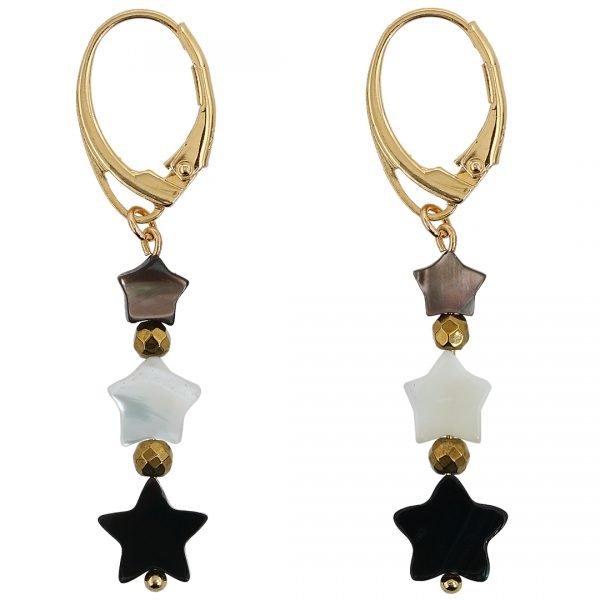 Ear Fashion Stars and Pearl party Gold PimpsandPearls