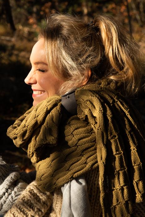 Big Knit biologisch katoen sjaal PimpsandPearls