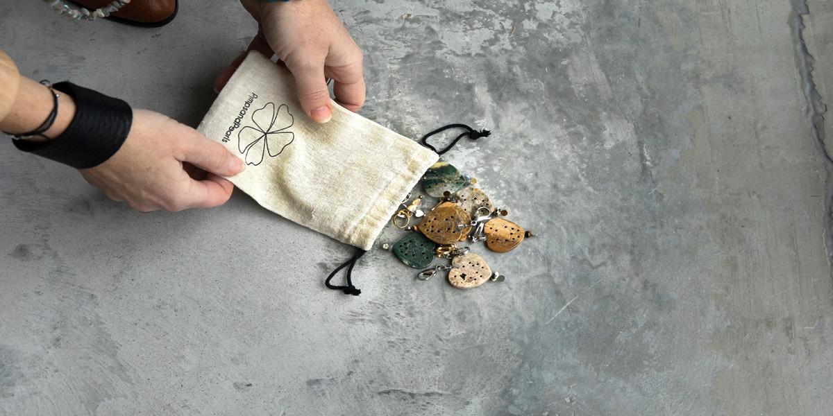 Edelsteen Ketting en Oorbellen set Zilver Groen Jaspis Romance