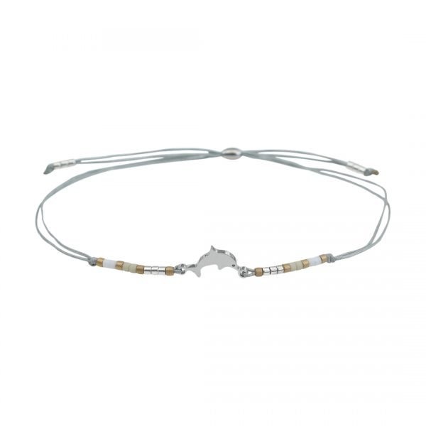 Miyuki fijne armband wit Dolfijn Presents and Pearls