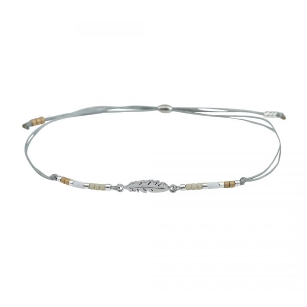Miyuki fijne armband wit Veertje Presents and Pearls