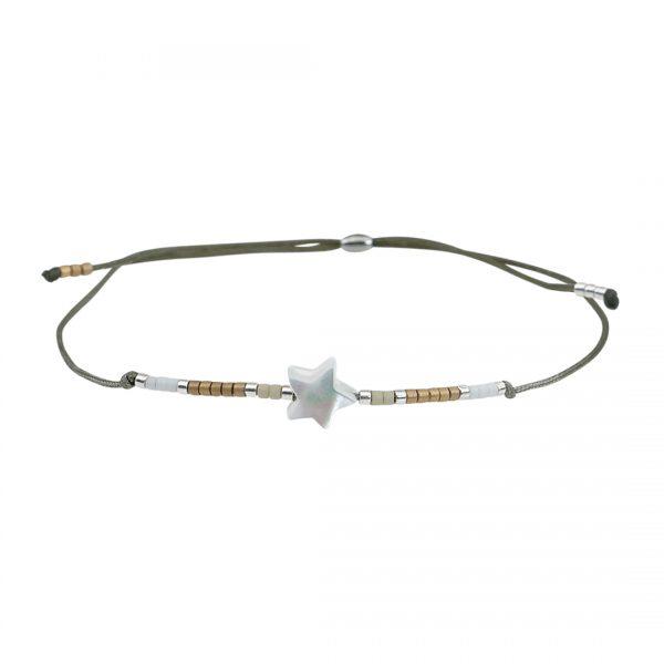 Miyuki fijne armband wit Star Presents and Pearls