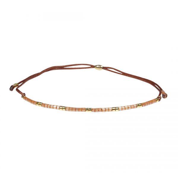 Miyuki fijne armband oranje Presents and Pearls