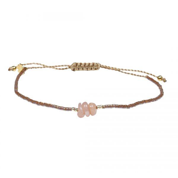 Miyuki fijne armband en oranje Zonnesteen Presents and Pearls Pull