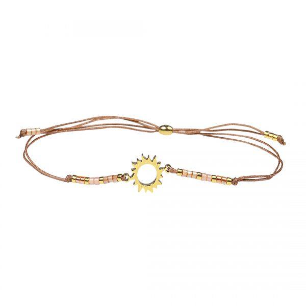 Miyuki fijne armband oranje Sun Presents and Pearls