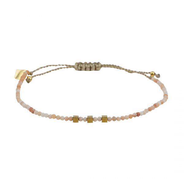 Edelsteen fijne armband oranje Zonnesteen Pull Presents and Pearls