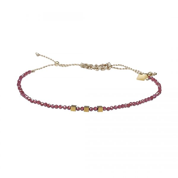 Edelsteen fijne armband rood Granaat Pull Presents and Pearls