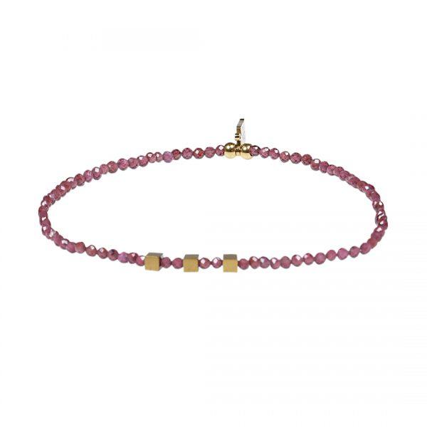 Edelsteen fijne armband rood Granaat Presents and Pearls