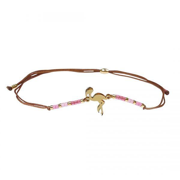 Miyuki fijne armband Flamingo rose Presents and Pearls