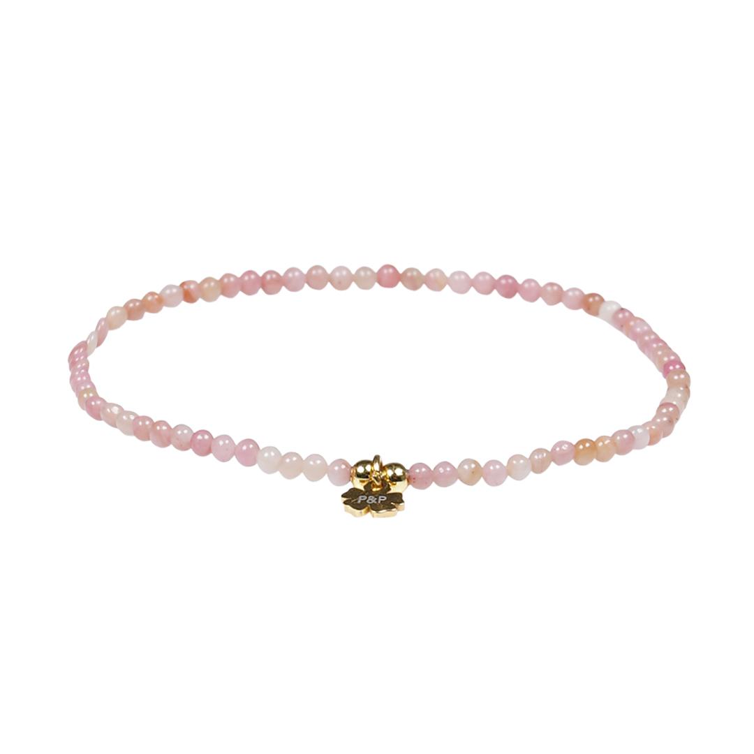 Edelsteen fijne armband rose Rhodoniet Presents and Pearls