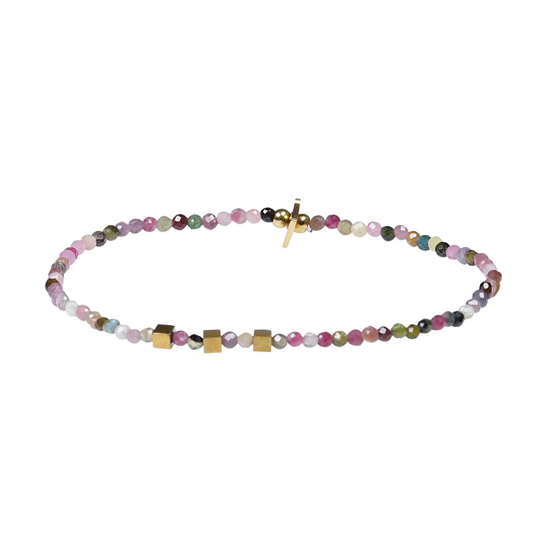 Edelsteen fijne armband roze Toermalijn Presents and Pearls