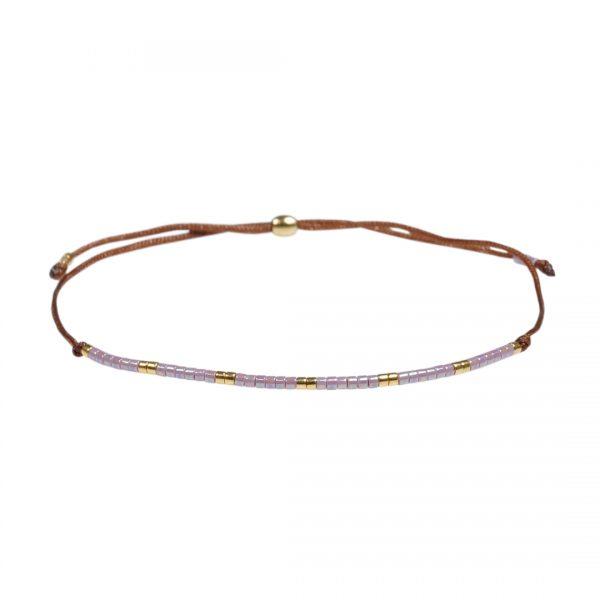 Miyuki fijne armband lila Presents and Pearls