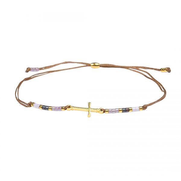Miyuki fijne armband lila Faith Presents and Pearls