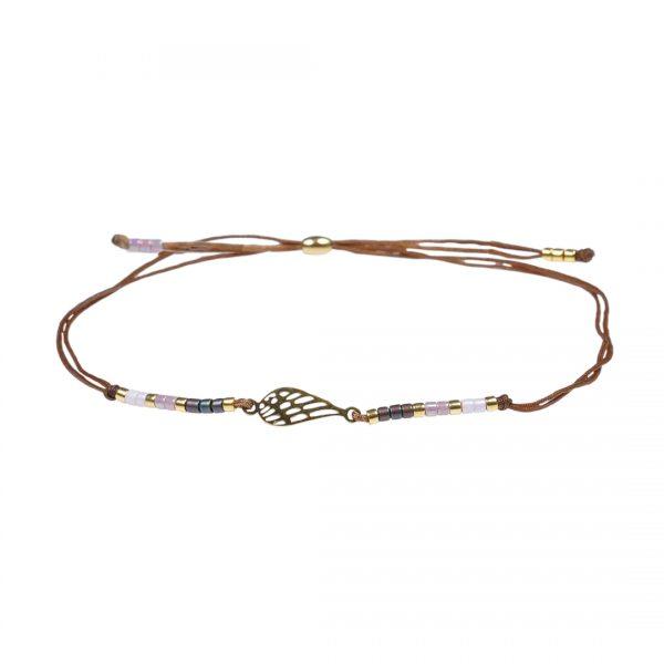 Miyuki fijne armband lila Wing Presents and Pearls