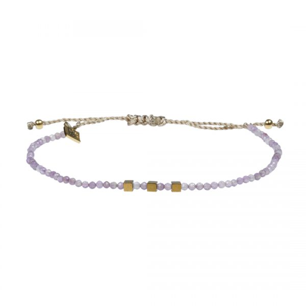 Edelsteen fijne armband lila Amethist Pull Presents and Pearls