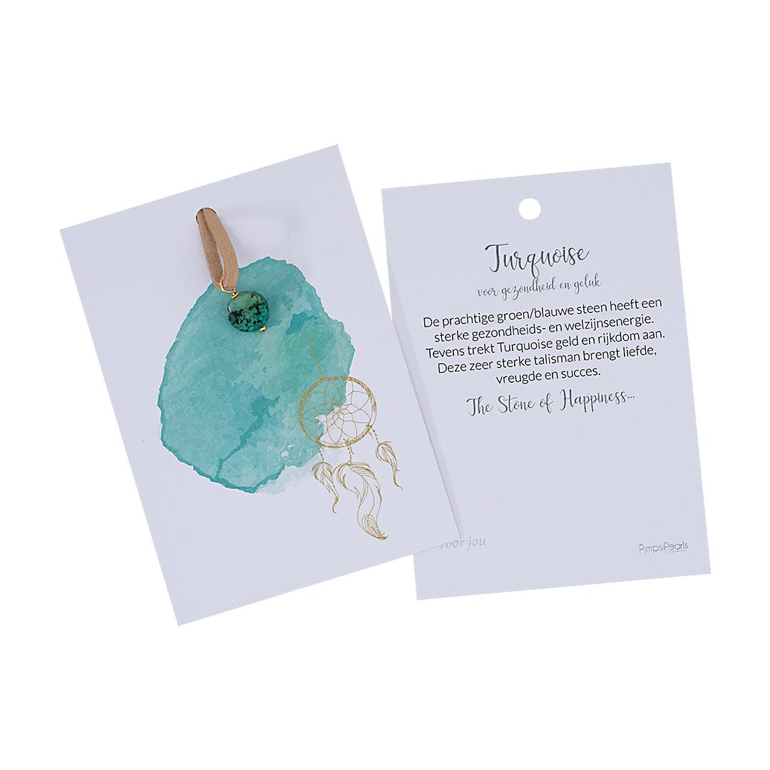 Kaarten met geluks edelsteen Turquoise