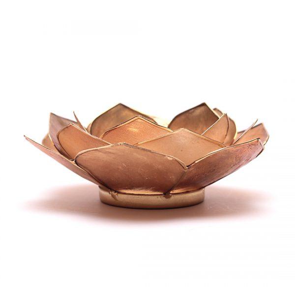 Lotus sfeerlicht bladvorm smoked/beige goudrand